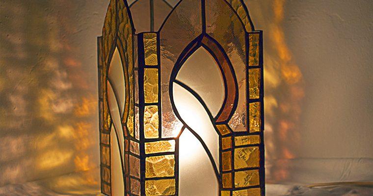 Lámpara arco gótico